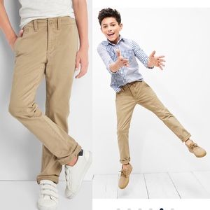 Bundle of 2 Pairs Boys Chinos in Stretch 7 Slim
